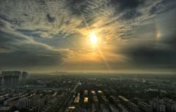 A view of the morning of Luoyang Stock Images
