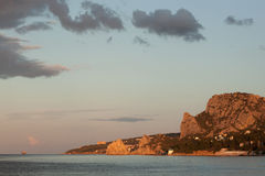 View on the morning Simeiz Royalty Free Stock Images