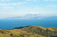 A view of Morocco across the Strait of Gibraltar Royalty Free Stock Photography