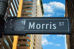 View of morris street. In Manhattan Royalty Free Stock Photography