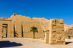 View of the mortuary Temple of Ramses III near Luxo Royalty Free Stock Photos