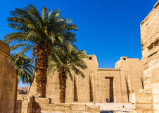 View of the mortuary Temple of Ramses III near Luxor Stock Image