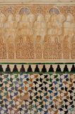 View of a mosaic in the Alhambra Stock Images