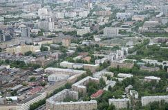 View of Moscow from the air Royalty Free Stock Photo