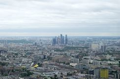 View of Moscow from the air Stock Photography