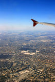 View of Moscow from the airplane Stock Photo