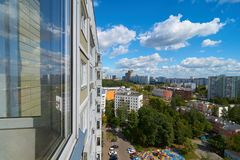 View on Moscow from balcony Royalty Free Stock Images