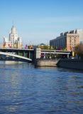 View of Moscow. Bolshoy Krasnokholmsky Bridge Stock Photos