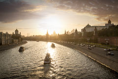View on Moscow from a bridge near Red Square Stock Image