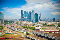 View of Moscow and a business center Moscow-City Stock Images
