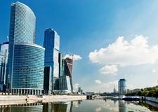 View on Moscow City buildings Stock Image