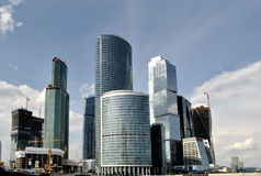 View of the Moscow City business center. Panorama of the international business centre, Moscow Royalty Free Stock Image