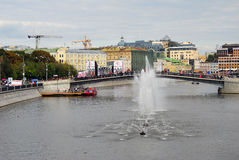 View of Moscow city center on the City Day celebration Royalty Free Stock Photography