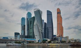 View of Moscow City royalty free stock images