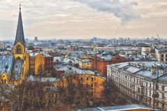 View in Moscow city royalty free stock photography