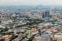View on Moscow Moscow city from Ostankino tower. Royalty Free Stock Photography