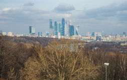 View of the Moscow City from Sparrow Hills, Moscow, Russia Stock Photography