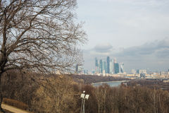 View of the Moscow City from Sparrow Hills, Moscow, Russia Stock Photos