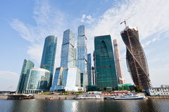 View of The Moscow City Towers Stock Image