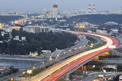 View in Moscow city stock photos