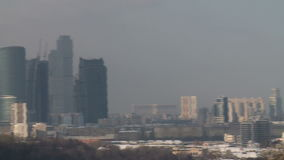 View on moscow cityscape and business center stock footage