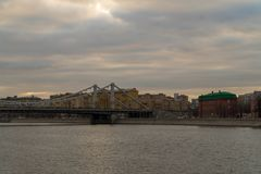 View of Moscow from the Crimean Embankment royalty free stock photography