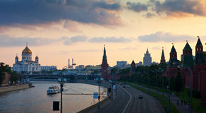 View of Moscow in dusk. Russia Royalty Free Stock Images