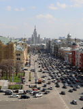 View of the Moscow from a high point, Russia Royalty Free Stock Photos