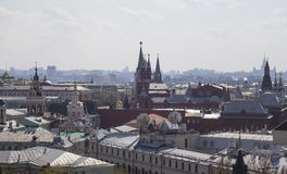 View of the Moscow from a high point, Russia Royalty Free Stock Image