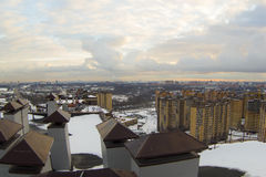 View of Moscow with high-rise buildings Royalty Free Stock Photography