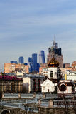 View of Moscow International Business Center and Ministry of Foreign Affairs stock photos