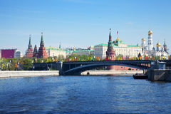 View of Moscow Kremlin stock photo