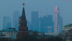 View of Moscow stock video footage