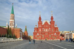 The view of Moscow Kremlin and Historical Museum, Moscow, Russia Stock Image