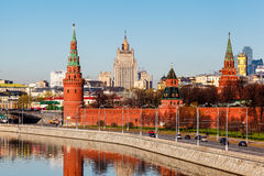 View on Moscow Kremlin and Ministry of Foreign Affairs Stock Images