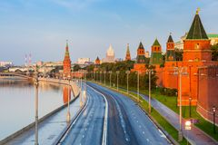 Moscow Kremlin in the morning, Russia Stock Photos