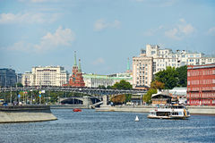 View of the Moscow Kremlin from the Moskva River embankment Royalty Free Stock Images