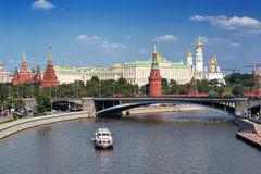 View of Moscow Kremlin and Moskva River Stock Photos