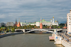 View of Moscow Kremlin and Moskva River Royalty Free Stock Images