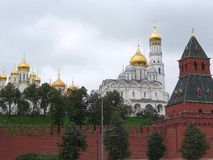 View of the Moscow Kremlin from the Moskva River Royalty Free Stock Image