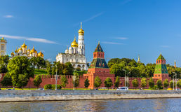 View of Moscow Kremlin over the river Stock Photos