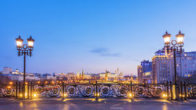 View of Moscow Kremlin from the Patriarchal bridge Stock Image