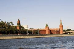 View of the Moscow Kremlin, a popular touristic landmark. UNESCO World Heritage Site. Color photo stock photography