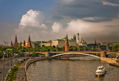 A view of moscow kremlin after rain Stock Photos
