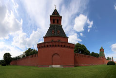 View of Moscow Kremlin on a sunny day, Russia Stock Images