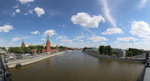 View of Moscow Kremlin on a sunny day, Russia Royalty Free Stock Photos