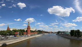 View of Moscow Kremlin on a sunny day, Russia Stock Photo