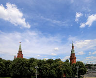 View of Moscow Kremlin on a sunny day, Russia Stock Photos