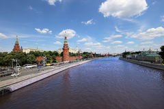 View of Moscow Kremlin on a sunny day, Russia Stock Image