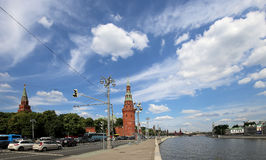 View of Moscow Kremlin on a sunny day, Russia Stock Photography